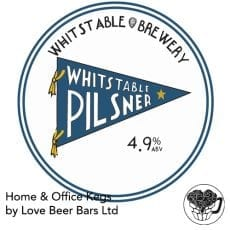 Whitstable Brewery Pilsner Lager Home Office Kent